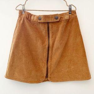 Zara Girls Velvet skirt